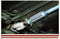 установка глушителя ВАЗ 2115