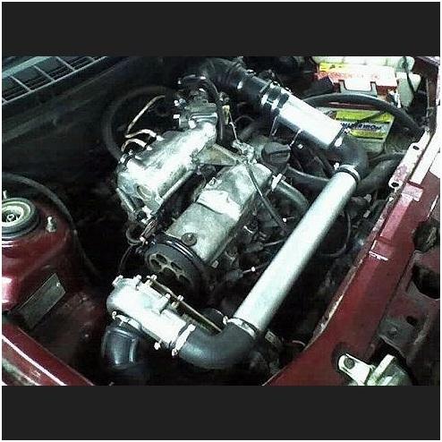 Вид установленного компрессора ВАЗ 2110, ВАЗ 2111, ВАЗ 2112