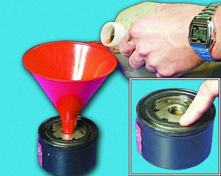 замена масляного фильтра ваз