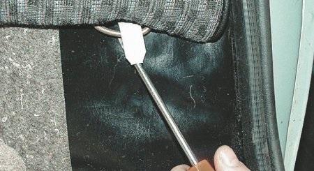 замена заднего сидения на