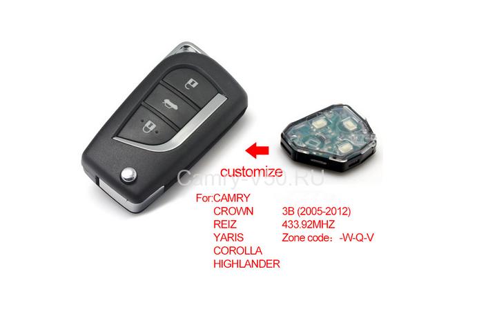 выкидной ключ для Toyoyta Camry