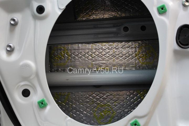шумоизоляция внутренней части двери