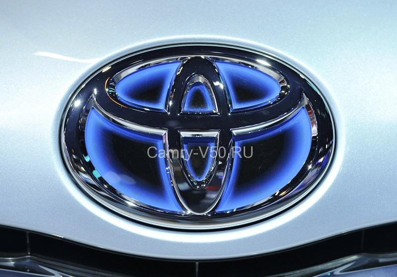 The logo for Toyota is displayed on a Prius hood at the Chicago Auto Show at McCormick Place in Chicago on February 9, 2011. UPI/Brian Kersey