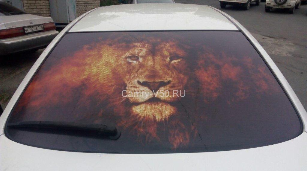 Шелкография на стекле авто