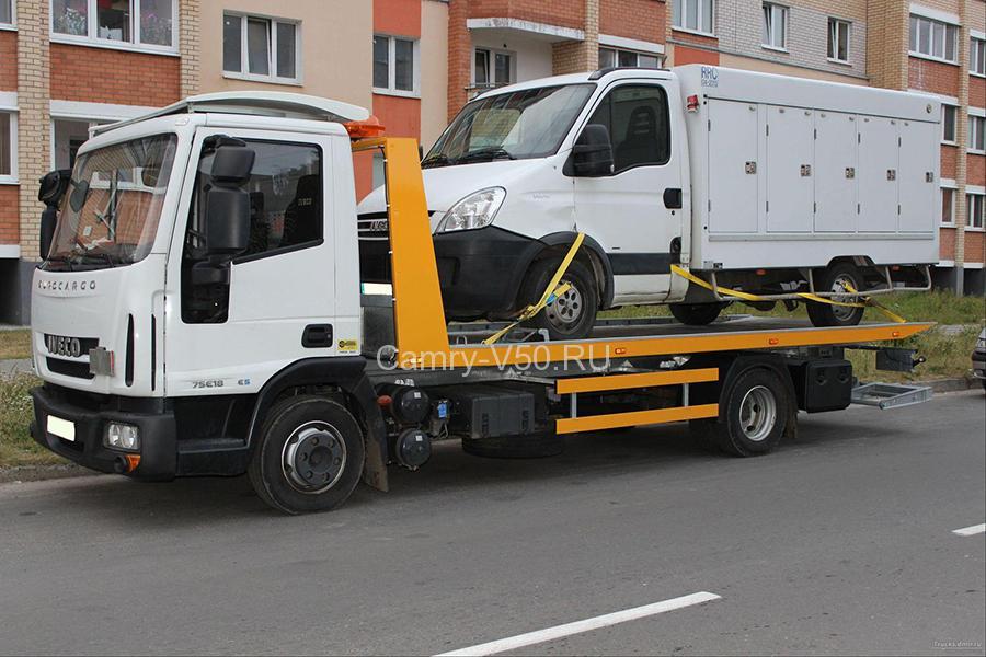 Транспортировка на эвакуаторе спецтехники
